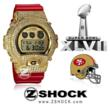 San Francisco 49ers Colorway diamond G-Shock by ZShock Commemorating Superbowl 47
